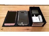 Samsung Galaxy S7 Edge 32GB in Pink Rose. As New with Case & Screen Protector. SIM Free.