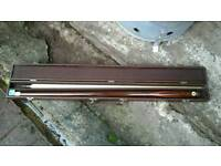 Riley snooker cue and case