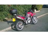 Low mileage Aprillia Pegaso Trail 660cc - excellent condition + heated grips, GPS, top-box, & stand