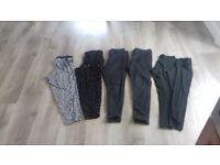 Ladies clothing bundle size 16 - 2 pairs next summer trousers, 2 black jeans, 2 black leggings