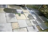 Slate paving slabs approx 6m2