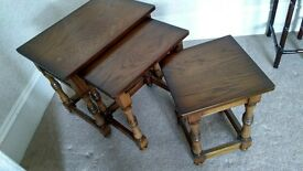 Nest of tables (solid hardwood)