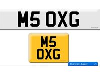 BMW M5 Oxygen private cherished personalised personal registration plate number M5 OXG