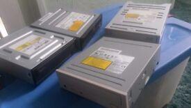 Four CDRW - DVD- DVDRW drives for desktop PCs
