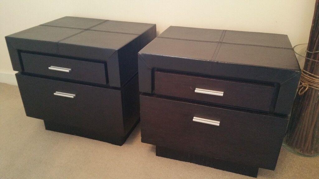 Black Leather Bedside Tables