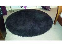 Black Round Rug