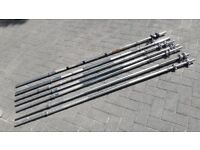6FT SOLID CHROME WEIGHTS BARBELL WITH SPINLOCKS or SPRING COLLARS