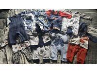 Newborn to 6 months baby boys clothes bundle