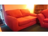 Free 2 seater red sofa