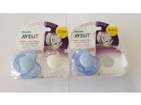 Philips Avent Freeflow Soother Pacifier (0-6 Months pack 2 plus 1)