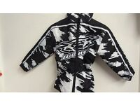wulfsport jacket motocross motox quad youth kids black and white size 28 age approx 8-9