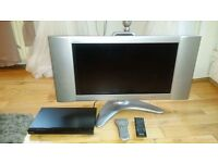 "Can deliver free - 26"" bush tv and Sony DVD player set bargain for sale noswap"