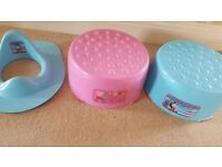 Thomas & peppa pig stool & toilet seat