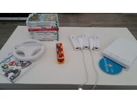 Nintendo Wii package with huge amount of extras