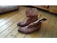 Sancho Cowboy Boots, Tan, Size 11