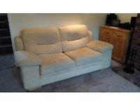 3 Seater Cream Sofa Bed