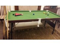 Foldable Snooker Table with accessories