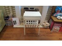 Retro Style Bedside Table Hall Table Side Table Magazine Rack 1 Drawer Side Table