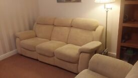 2 and 3 seater recliner sofas in excellent condition.