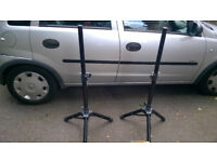Speaker Stands telescopic fold up Pair of NJS