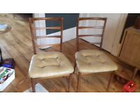Vintage mid century ladder back McIntosh set of four dining chairs (dining table listed separately)