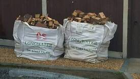 1 x Ton bag of Assorted Wood and Split Connifers, Well Seasoned, £35 buyer collects please