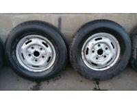Ford transit 16 steel wheels 2 x tyres 215 75 16