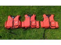 3 x YAK Lifejackets 1 x small 2 x Medium