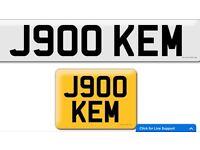 J900 KEM private cherished personalised personal registration plate number