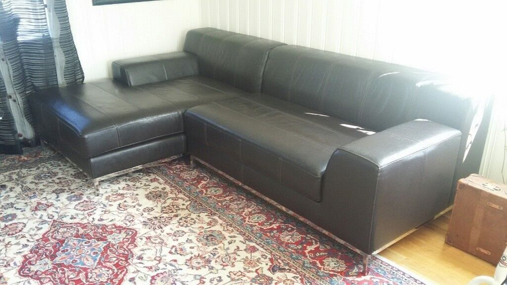 Superb Ikea Kramfors Leather Coach Sofa In Market Harborough Leicestershire Gumtree Download Free Architecture Designs Scobabritishbridgeorg