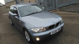 BMW 1 series 2006 hatchback, 5 doors 1.6 petrol, only 59000 miles, 1 OWNER FROM brand new. BMW S/H