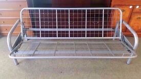 GREAT CONDITION! metal futon sofa bed frame (frame only) ex floor/display model