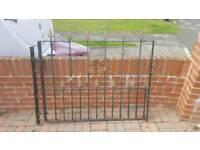 Heavy wrought iron gates and fence panels