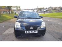KIA PICANTO 1.1L 5DR AUTOMATIC, 1 YEAR MOT,LOW MILEAGE ONLY 43455,RECENTLY SERVICED,A/C
