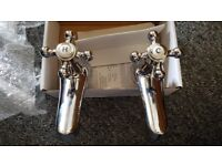 Pair of bath taps (optional basin taps) for two hole configuration