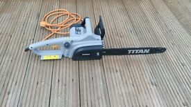 TITAN ELECTRIC CHAINSAW IDEAL FOR TREE CUTTING