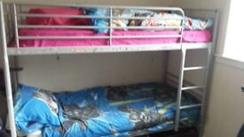 Silver metal bunk beds free