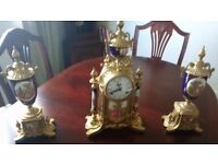 antique style italian clock 8 day chimmer