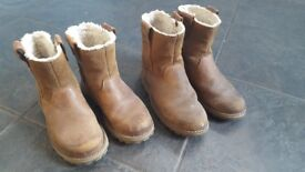 Timberland children's leather boots, size 11 & 12