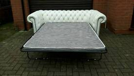 Chesterfield leather bed/ sofa. EXCELLENT CONDITION! BARGAIN!