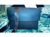 Hermes Paris dark brown leather shoulder bag crossbody bag
