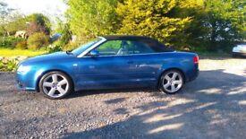 Audi A4 convertible,2008,good condition,FSH,new timing belt,mot till nov £4300ono