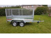 CAGE TRAILER - 8,7FT X 4,2FT MESH SIDES TRAILER £1200 inc vat BEST PRICE !!!!!