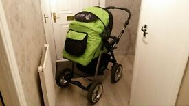 Green Unisex Baby 3 in 1 travel system, need gone ASAP