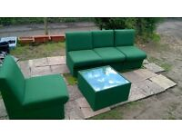 Sofa / armchair with matching coffee table. Free local delivery