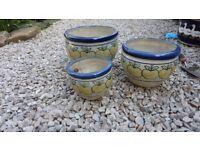 Set of 3 Graduated Plant pots