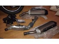Yamaha R1 2007 Genuine OEM Exhaust Cans & Center Pipe