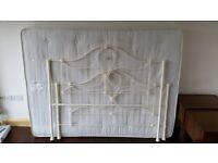Laura Ashley King Size Metal Bed Frame with John Lewis Mattress
