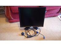Dell 19 inch LCD computer monitor