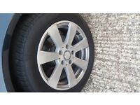 Mercedes C 2011 W204 wheels alloys with tyres
